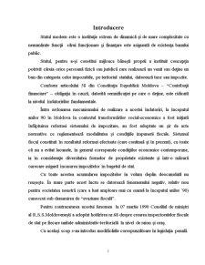Analiza Juridico-Penala a Evaziunii Fiscale in Republica Moldova - Pagina 1