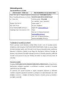 Contabilitatea Modificărilor Patrimoniale - Pagina 2