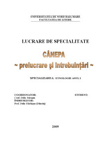 Canepa - Prelucrare si Intrebuintari - Pagina 1