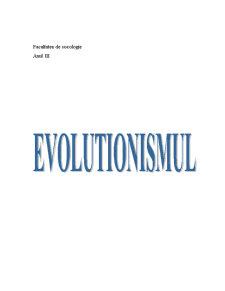 Evolutionismul - Pagina 1