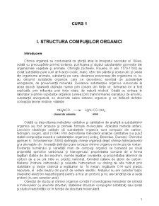 Structura Compusilor Organici si Izomeria Substantelor Organice - Pagina 1