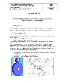 Restabilirea Parametrilor Dimensionali ai Angrenajelor cu Roți Dințate Cilindrice cu Dinți Înclinați - Pagina 1