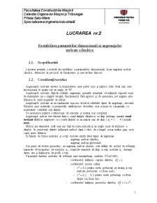 Restabilirea Parametrilor Dimensionali ai Angrenajelor Melcate Cilindrice - Pagina 1