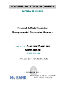 Sisteme Bancare Comparate - Pagina 1