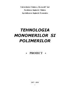 Tehnologia Monomerilor și Polimerilor - Pagina 1