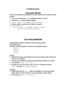 Clase în Java - Pagina 1