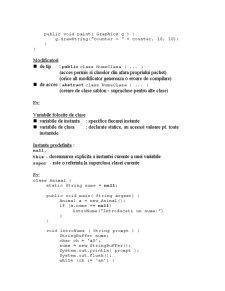 Clase în Java - Pagina 3