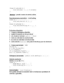 Clase în Java - Pagina 5