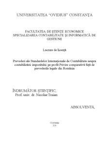 Prevederi ale Standardelor Internaționale de Contabilitate asupra Contabilizării Impozitului pe Profit - Pagina 1