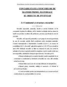 Contabilitatea Stocurilor de Materii Prime, Materiale și Obiecte de Inventar - Pagina 1