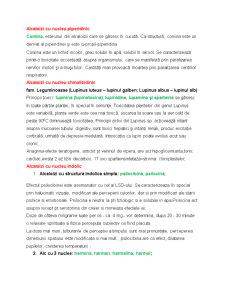 Alcaloizi cu Nucleu Piperidinic - Pagina 1
