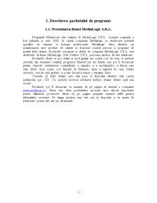 Descrierea Programului de Contabilitate - Mastercont - Pagina 2