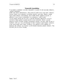 Tranzacții și Paralelism - Pagina 1