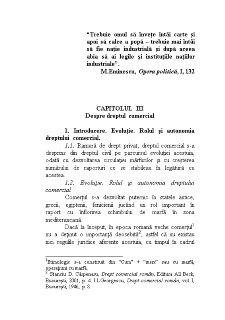 Despre Drept Comercial - Pagina 1