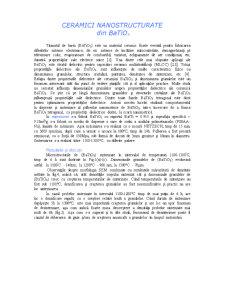 Ceramici Nanostructurate din BaTiO3 - Pagina 1