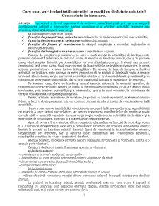 Psihopedagogie - Deficienti de Intelect - Pagina 1