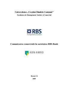 Comunicarea Comercială în Societatea RBS-Bank - Pagina 1