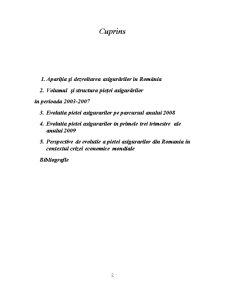 Piata Asigurarilor in Romania - Evolutii si Perspective in Contextul Crizei Economice - Pagina 2