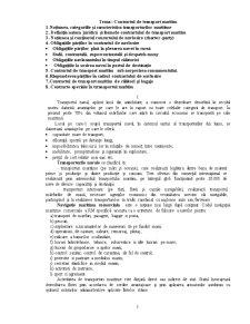 Contract de Transport Maritim - Pagina 1