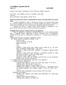 Contabilitate și Gestiune Fiscală - Pagina 1
