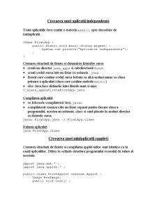 Crearea unei Aplicatii Independente in Java - Pagina 1