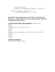 Crearea unei Aplicatii Independente in Java - Pagina 2