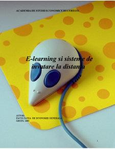 E-Learning si Sisteme de Invatare la Distanta - Pagina 1
