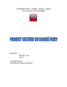 Modelarea si Simularea unei Sere cu Logica Fuzzy - Pagina 1
