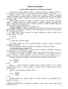 Analiza Producției Fizice - Pagina 1