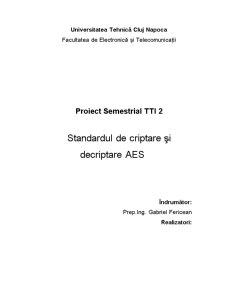 Standardul de Criptare AES - Pagina 1