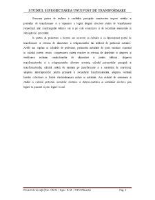 Alimentarea unui Atelier de Prelucrare Mecanica Folosind un Post de Transformare - Pagina 4