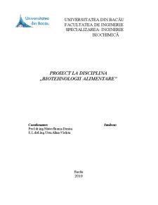 Biotehnologia de Obținere a Iaurtului cu Adaos de Legume - Pagina 1