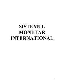 Sistemul Monetar Internațional - Pagina 1