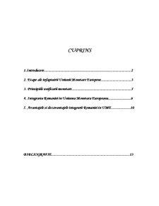 Integrarea Monetar-Europeana - Pagina 1