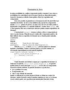 Desenarea în Java - Pagina 1