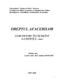 Dreptul Comercial - Pagina 1