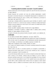 Controlul Gestiunii Societatilor Comerciale. Cenzorii si Auditorii - Pagina 1