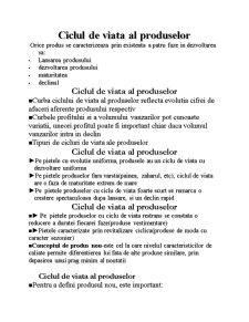 Ciclul de Viata al Produselor - Pagina 1