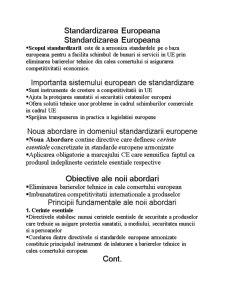 Standardizarea Europeana - Pagina 1
