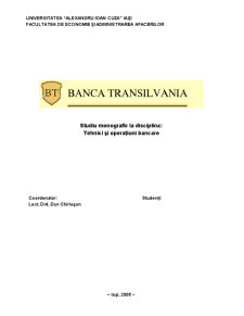 Banca Transilvania - Pagina 1