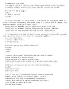 Deontologia si Statutul Functionarului Public - Grile - Pagina 2