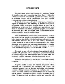Promovarea Vanzarilor la SC Comet SA - Pagina 5