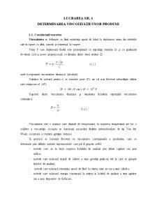 Lucrarea Nr. 1 - Determinarea Viscozitatii unor Produse - Pagina 1