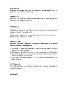 Defecte si Regimuri Anormale ale Masinilor si Aparatelor Electrice - Pagina 4