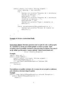 Exceptii in Java - Pagina 2