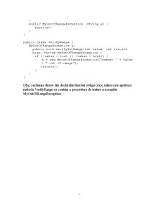 Exceptii in Java - Pagina 3