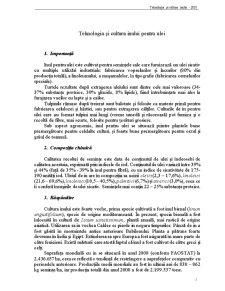 Tehnologia și Cultura Inului pentru Ulei - Pagina 1