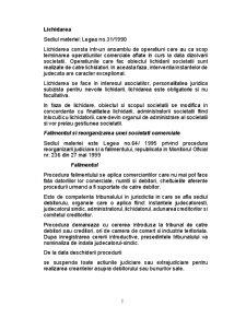 Contabilitatea Lichidarii si Fuziunii Societatilor Comerciale - Pagina 2