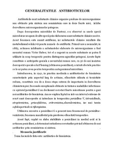 Generalitatile Antibioticelor - Pagina 1