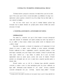 Contractul în Dreptul Internațional Privat - Pagina 1